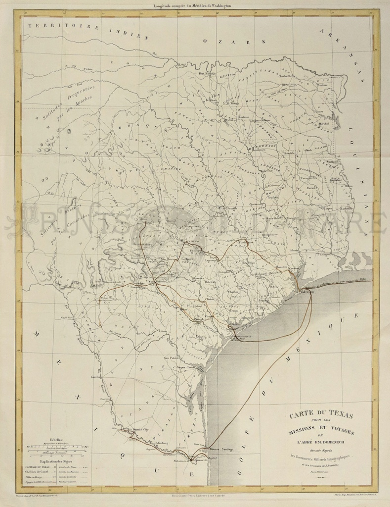 Prints Old & Rare - Texas - Antique Maps & Prints - Antique Texas Maps For Sale