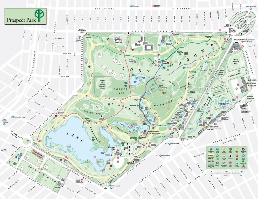 Prospect Park Map - Prospect Park Brooklyn New York • Mappery - Prospect Park Map Printable