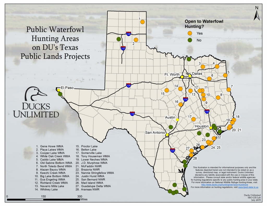 Public Hunting On Du Projects In Texas - Texas Public Hunting Land Map