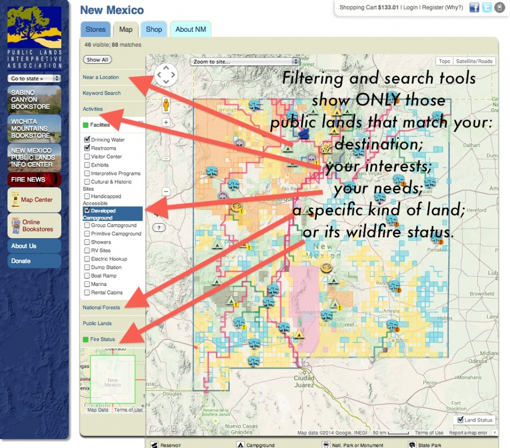 Publiclands | Nevada - Blm Land Map Southern California