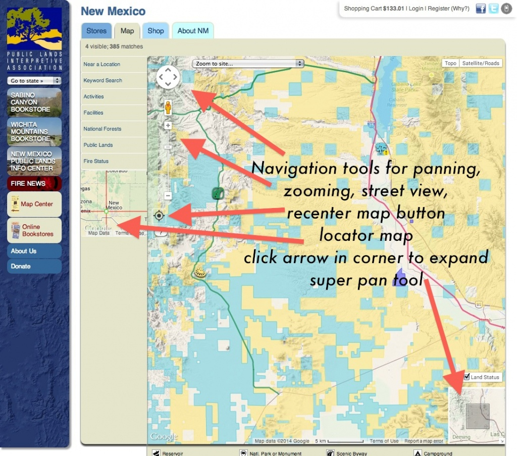 Publiclands | New Mexico - Blm Land Florida Map