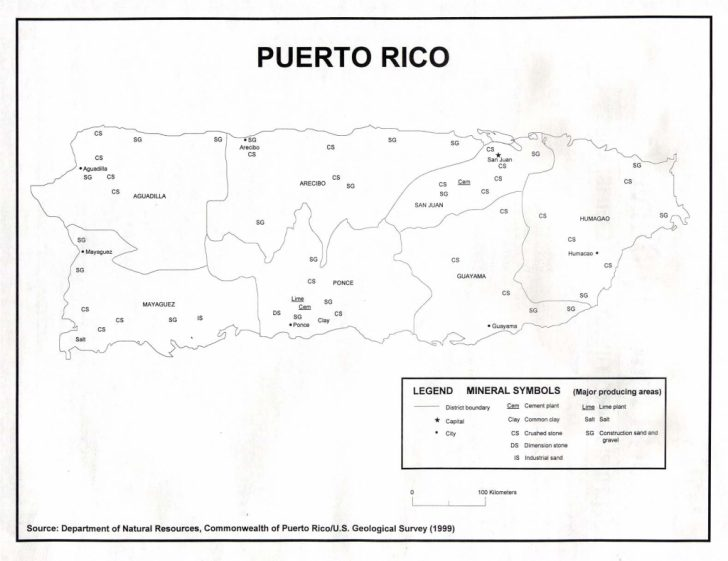 Printable Map Of Puerto Rico With Towns