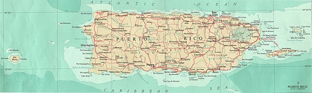 Puerto Rico Maps - Perry-Castañeda Map Collection - Ut Library Online - Printable Map Of Puerto Rico