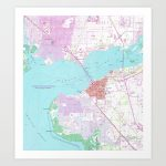 Punta Gorda & Port Charlotte Florida Map (1957) Art Print   Punta Gorda Florida Map