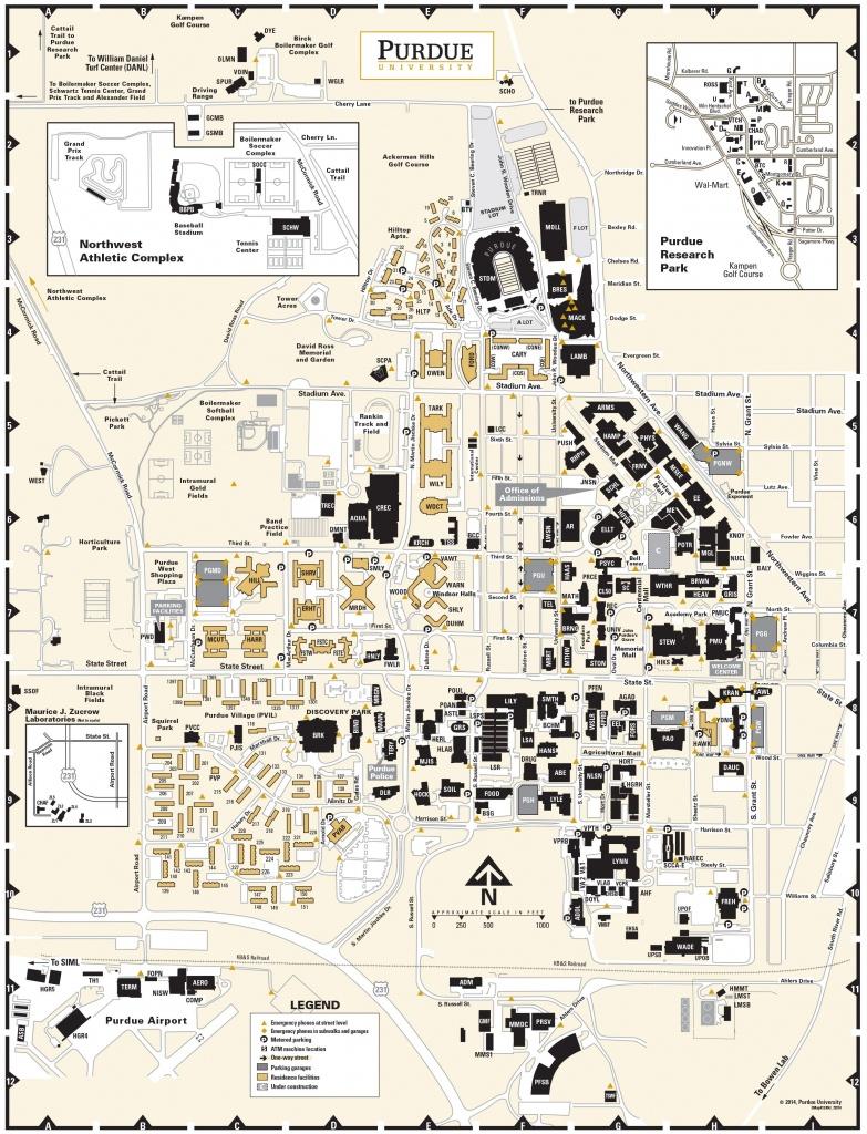 Purdue University Campus Map, Circa 2014, Pg 2 | Purdue | University - Uw Madison Campus Map Printable