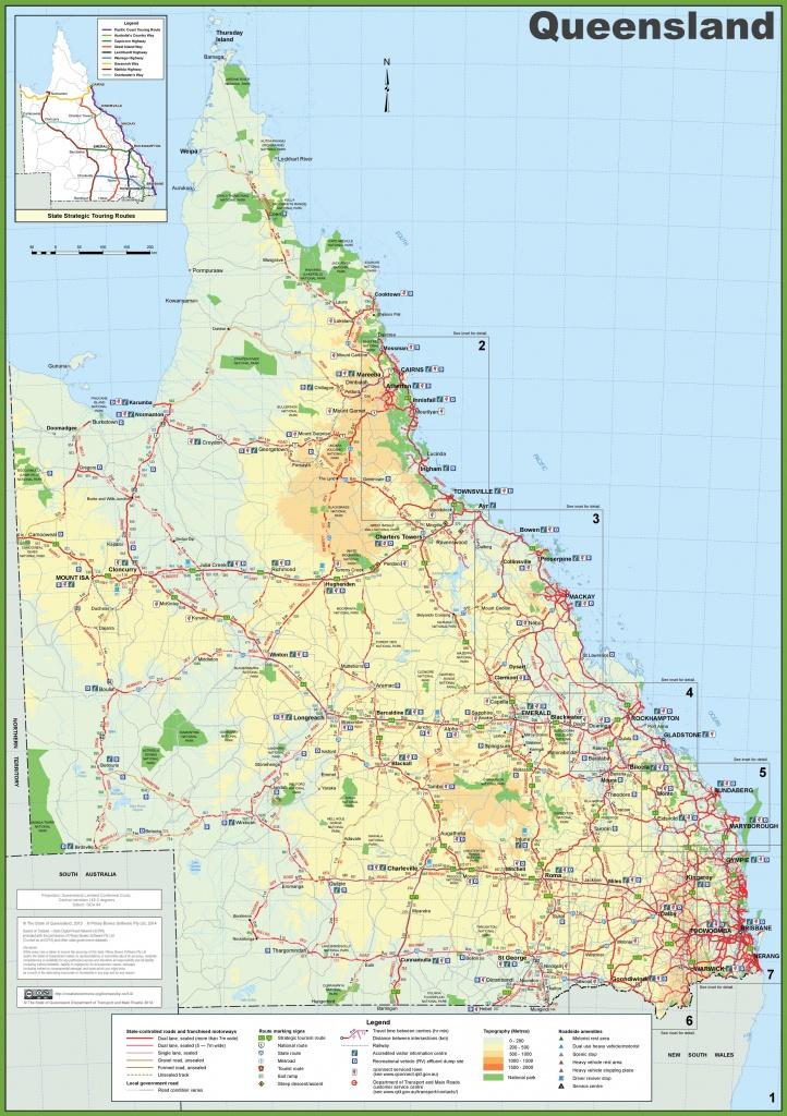 Queensland Tourist Map - Printable Map Of Queensland