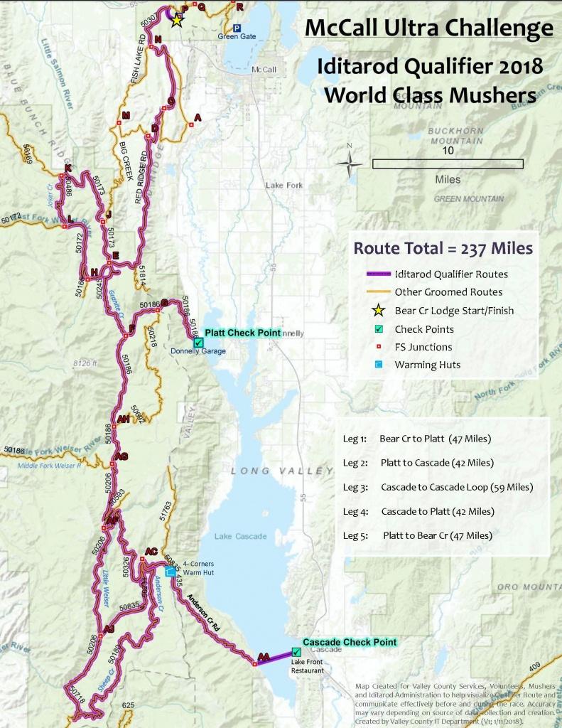 Race - Printable Iditarod Trail Map