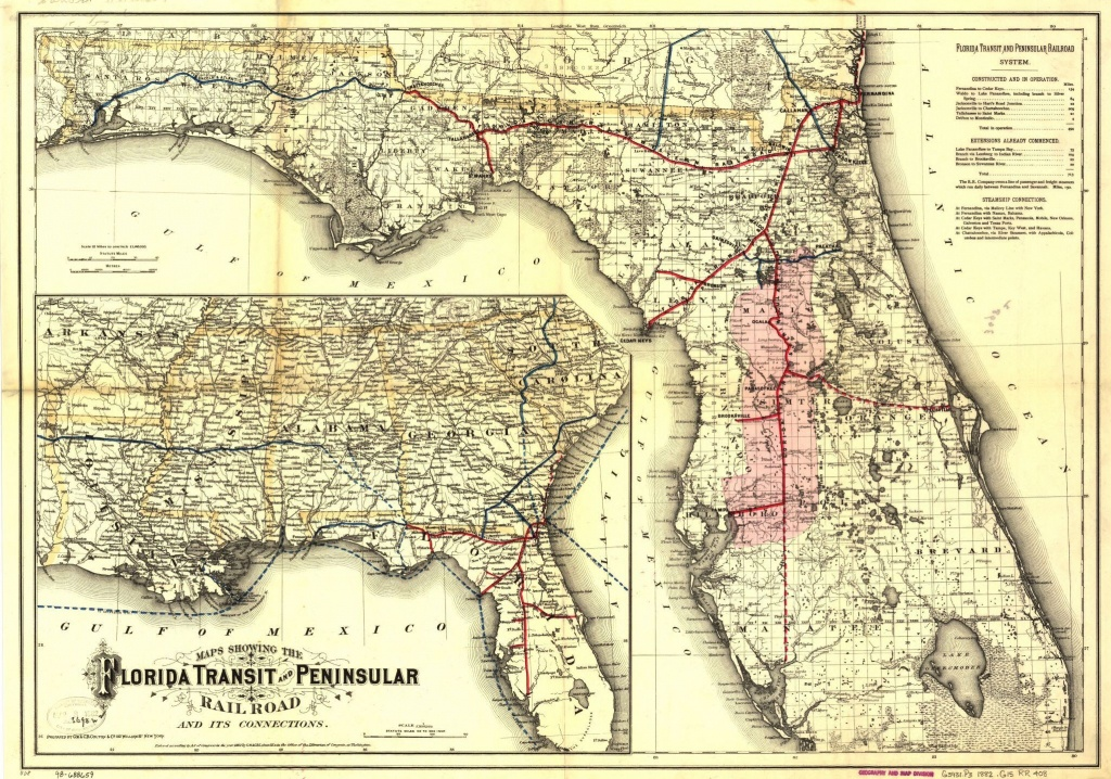 Railroad Maps, 1828 To 1900, Florida | Library Of Congress - Florida Map 1900