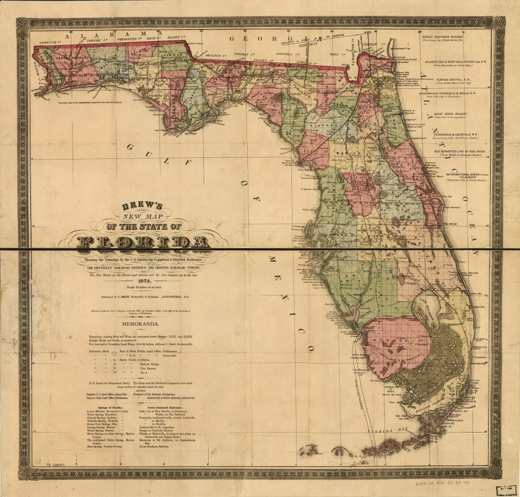 Railroad Maps, 1828 To 1900, Florida | Library Of Congress - Florida Railroad Map
