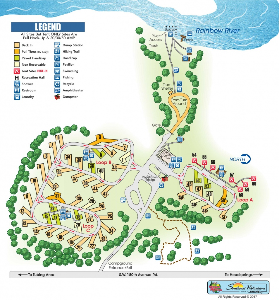 Rainbow Springs State Park - Know Your Campground - Florida State Campgrounds Map