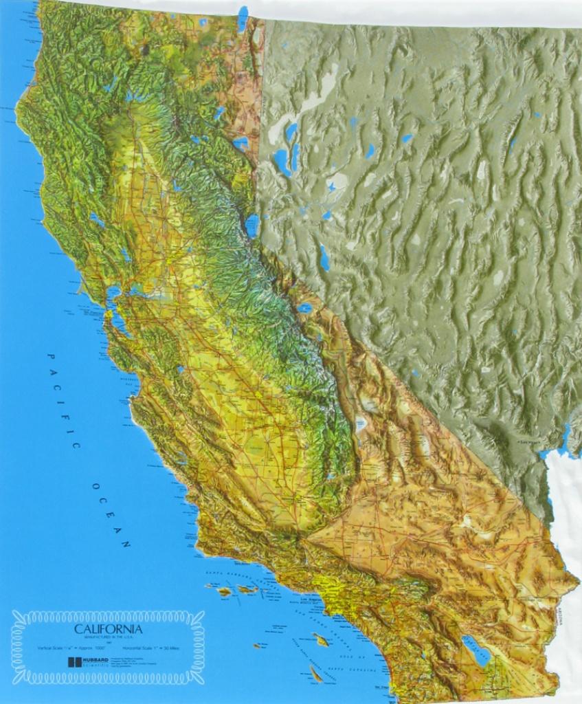 Raised Relief Maps Of California - California Relief Map