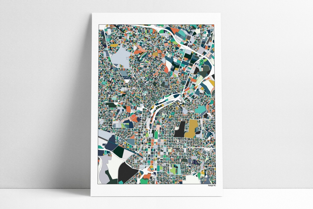 Raleigh Raleigh Nc Raleigh Map Raleigh Print City Map   Etsy - Printable Map Of Raleigh Nc