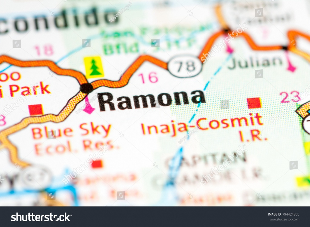 Ramona California Usa On Map Stock Photo (Edit Now) 794424850 - Ramona California Map