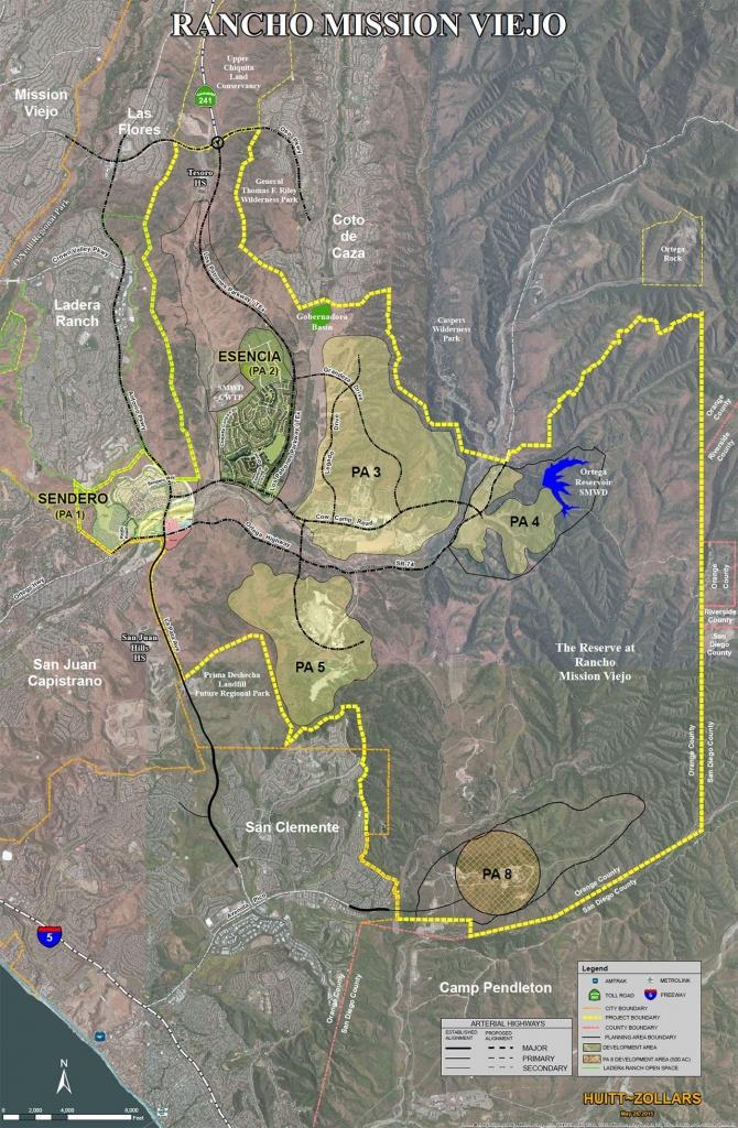 Rancho Mission Viejo Aerial Map | Rancho Mission Viejo | Mission - Mission Viejo California Map