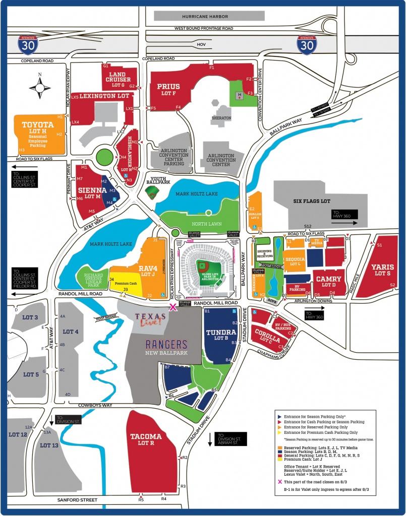 Rangers Advise Public Of Parking Lot Changes – Cbs Dallas / Fort Worth - Texas Rangers Stadium Parking Map