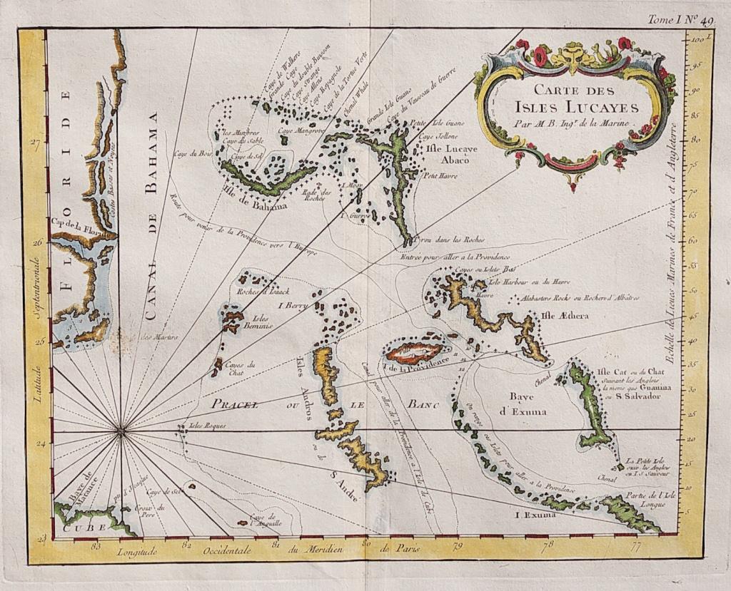 Rare Map Of The Bahamas And East Coast Of Florida    Michael - Jennings Florida Map