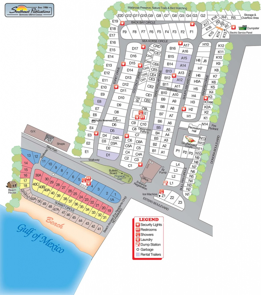 Red Coconut Rv Park, Llp - Map Of Fort Myers Beach Florida
