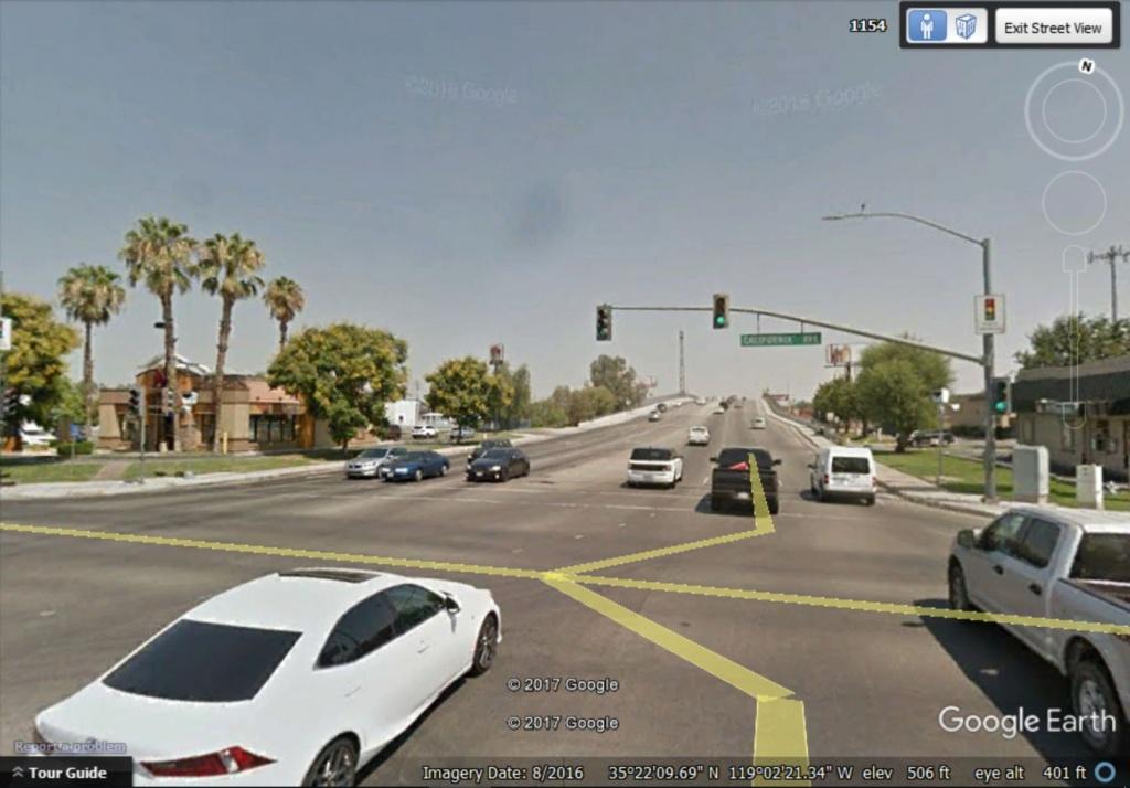 Red Light Camera Ticket At California Avenue And Oak Street - Red Light Camera California Map