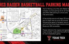 Texas Tech Football Parking Map 2017