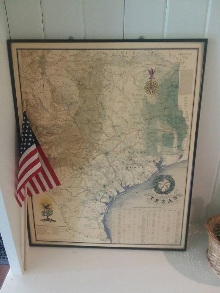 Reduced:vintage Texas Map Large Framed Nap Of Texas Texas | Etsy - Vintage Texas Map Framed