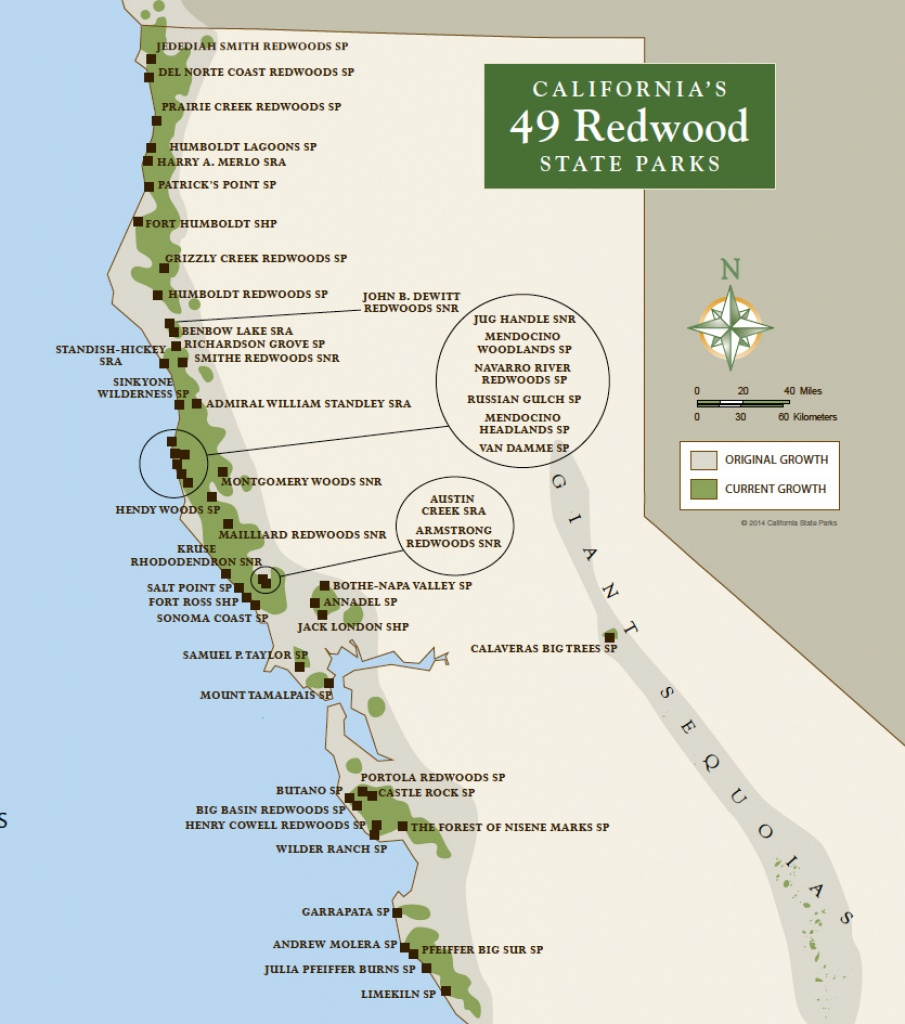 Redwood Parks Day Passes 'sold Out' (2015) | Save The Redwoods League - California Redwood Parks Map