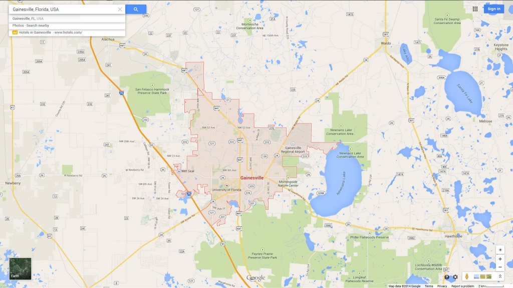 Reference Maps Of Florida, Usa - Nations Online Project - Map Of - Map Of Gainesville Florida Area