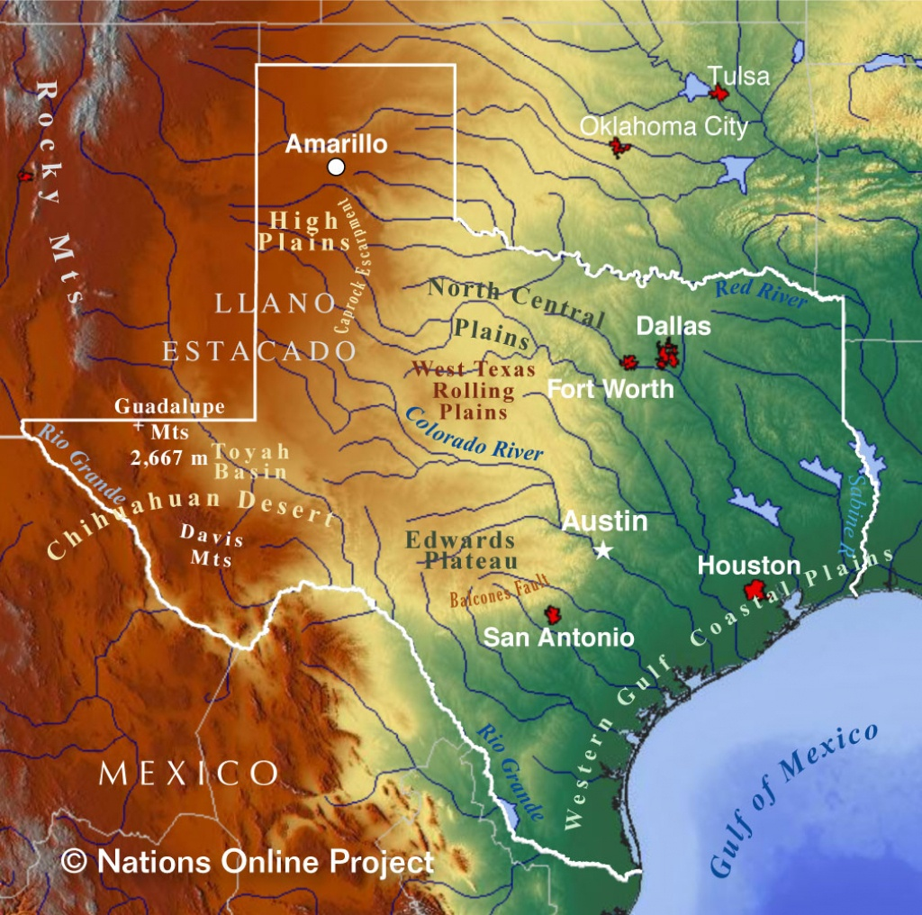 Reference Maps Of Texas, Usa - Nations Online Project - Show Me A Map Of Texas Usa