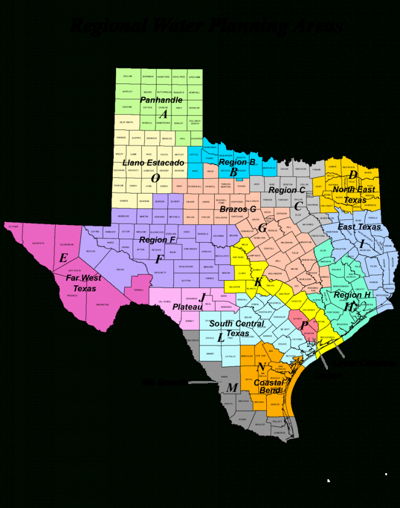 Region Map Of Texas And Travel Information   Download Free Region - Texas Dps Region Map