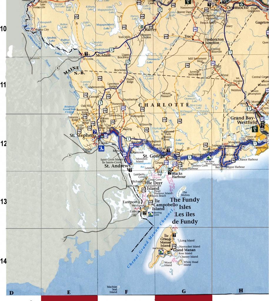 Regional Maps For New Brunswick, Canada - Printable Map Of New Brunswick