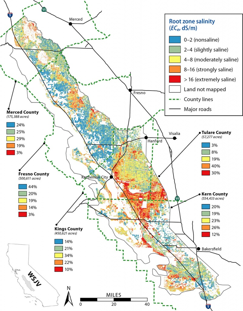 Remote Sensing Is A Viable Tool For Mapping Soil Salinity In - California Almond Farms Map