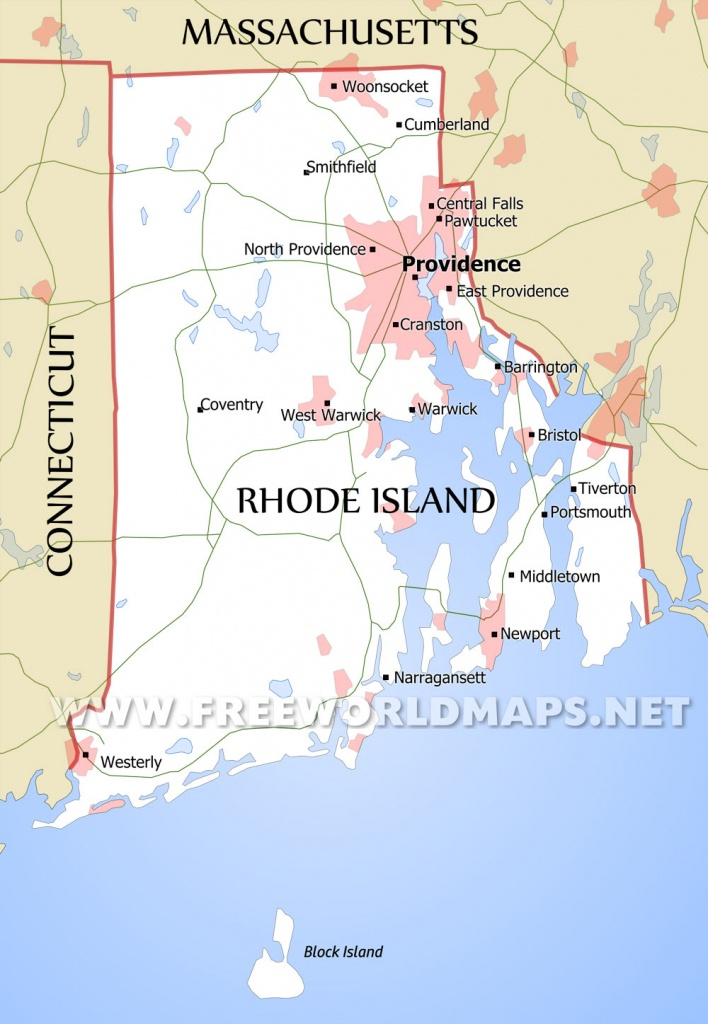 Rhode Island Maps - Printable Map Of Rhode Island