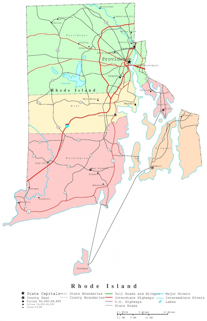 Rhode Island Printable Map - Printable Map Of Rhode Island