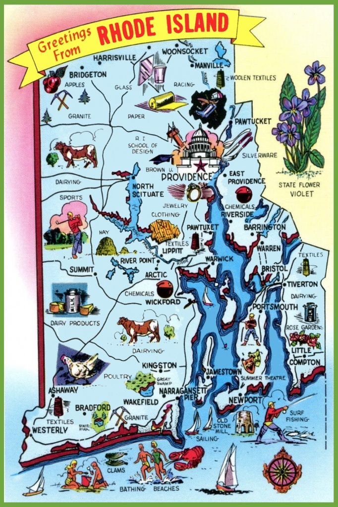 Printable Map Of Rhode Island