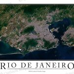 Rio De Janeiro, Brazil Satellite Map Print | Aerial Image Poster   Printable Map Of Rio De Janeiro