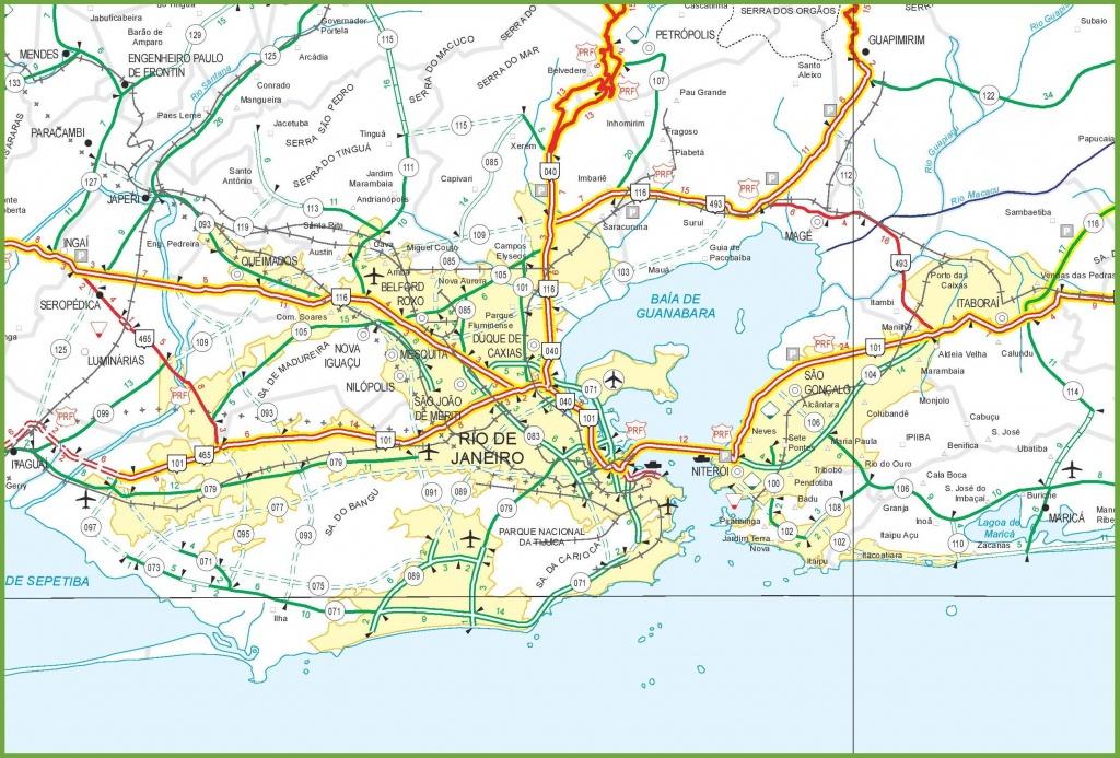 Rio Wegenkaart - Rio De Janeiro Road Map (Brazilië) - Printable Map Of Rio De Janeiro
