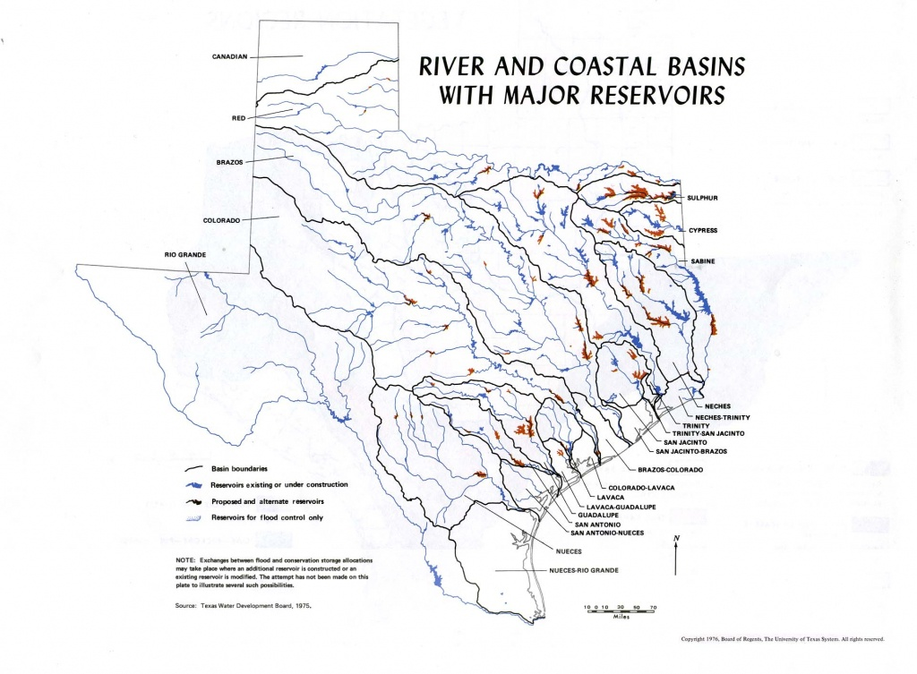 River In Texas Map And Travel Information | Download Free River In - Texas Waterways Map