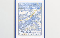 Riverside California Map Uc Riverside Poster Print City Map – Printable Map Of Riverside Ca