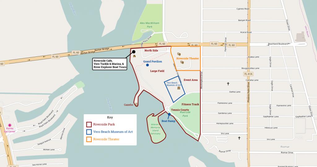 Riverside Park Vero Beach Florida   Navfile - Map Of Vero Beach Florida Area