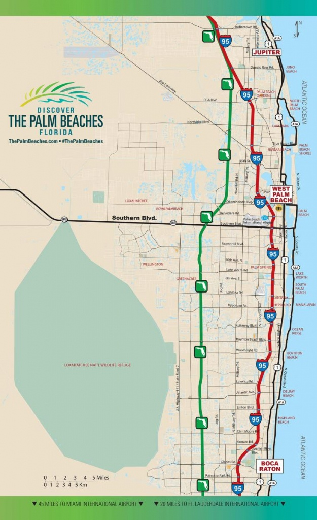 Road Access | The Palm Beaches Florida - Singer Island Florida Map