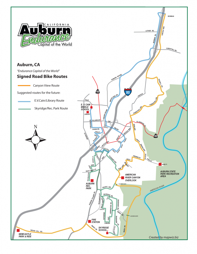 Road Cycling | Auburn Ca - Endurance Capital Of The World™ - Auburn California Map