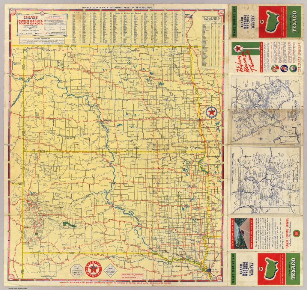 Road Map N. & S. Dakota. - David Rumsey Historical Map Collection - Rand Mcnally Texas Road Map