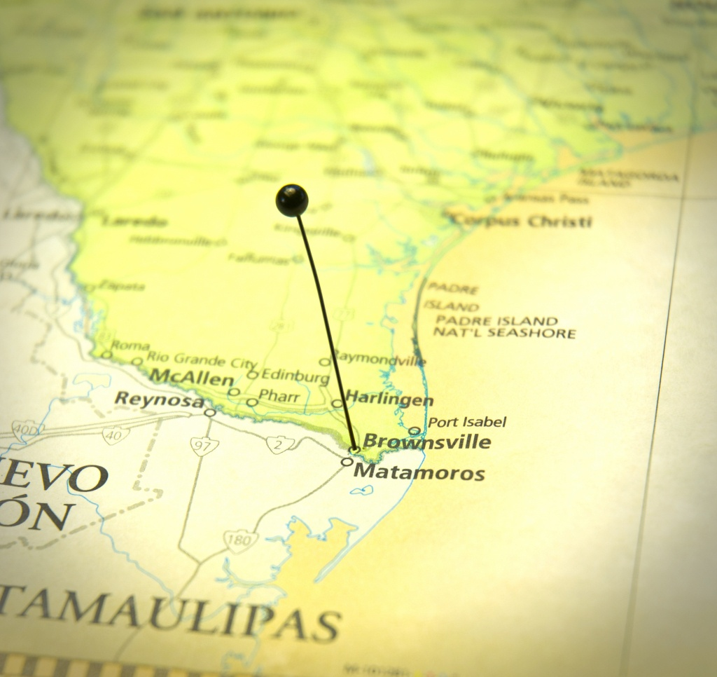 Road Map Of Brownsville Texas And Matamoros Mexico - Gulf Coast Eye - Map Of Brownsville Texas Area