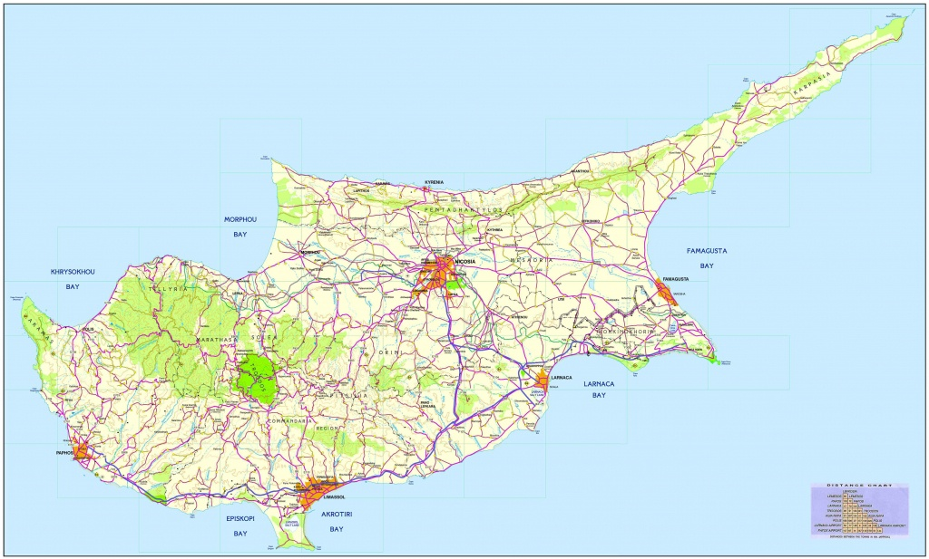 Road Map Of Cyprus | Tourist Map Of Cyprus | Maps Of Districts In Cyprus - Printable Map Of Cyprus