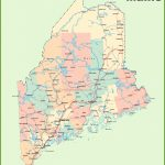 Road Map Of Maine With Cities   Printable Road Map Of Maine