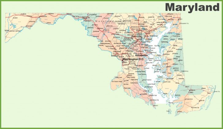 Printable Map Of Maryland