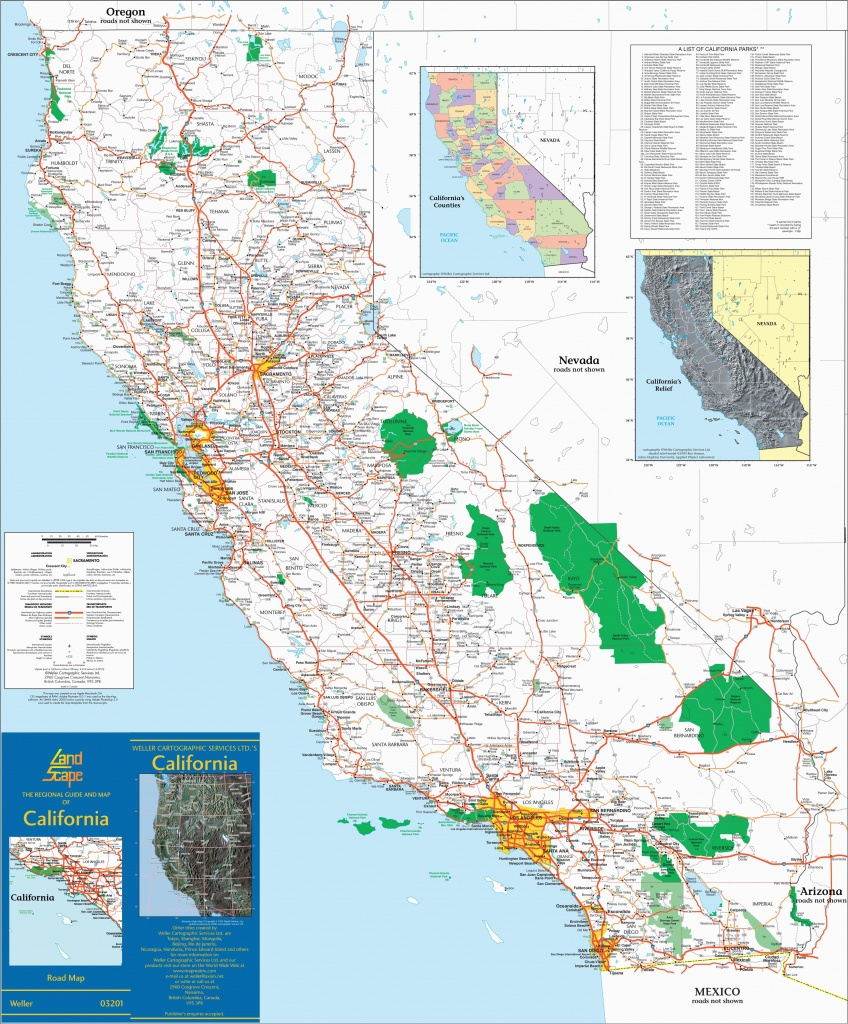 Road Map Of Nevada And California Large Detailed Map Of California - Road Map Of California And Nevada