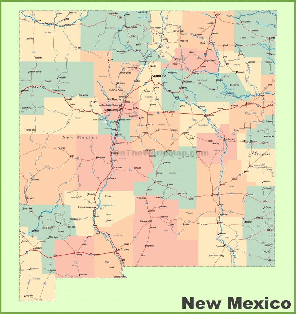 Road Map Of New Mexico With Cities Beautiful New Mexico State Road - New Mexico State Map Printable