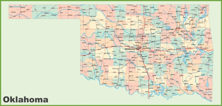 Printable Map Of Oklahoma