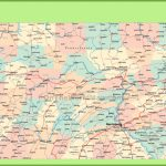 Road Map Of Pennsylvania With Cities   Pa County Map Printable