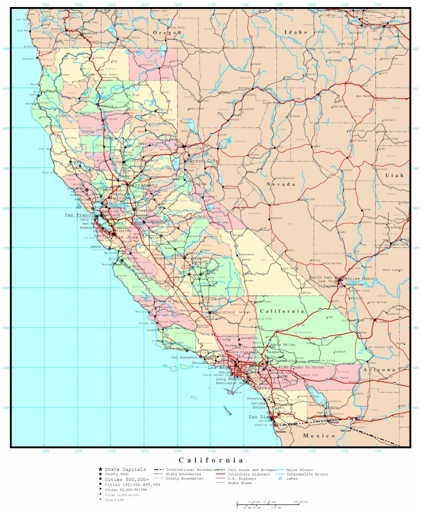 Road Map Of Southern California And Travel Information | Download - Southern California Road Map Pdf